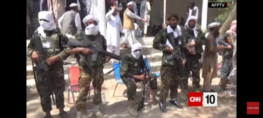 Taliban guarding and protecting their territory.